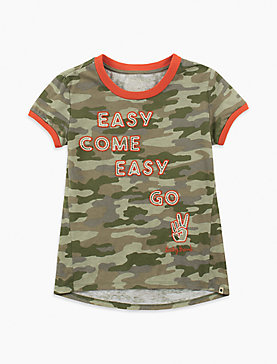 LITTLE GIRLS 2T-6X SABRA TEE