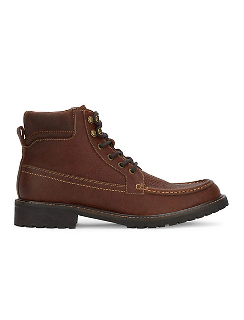 BOWMAN LACE UP BOOT, DARK BROWN