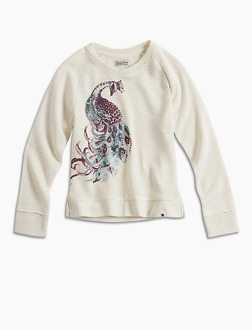 PEACOCK PULLOVER CREW, CRYSTAL