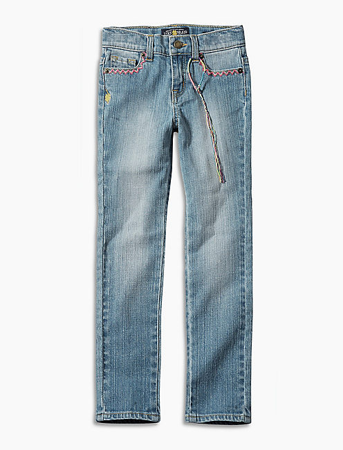 Lucky Brand Kids Girl's Zoe Jeans w/Embroidery (Little Kids) Monterey Wash 4