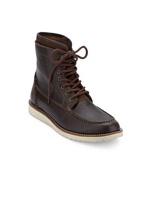 MUNFORD LACE UP BOOT, DARK GREY