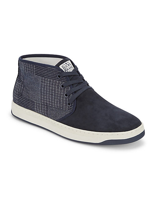 PAYNE MIXED TEXTILE SNEAKER, DARK BLUE