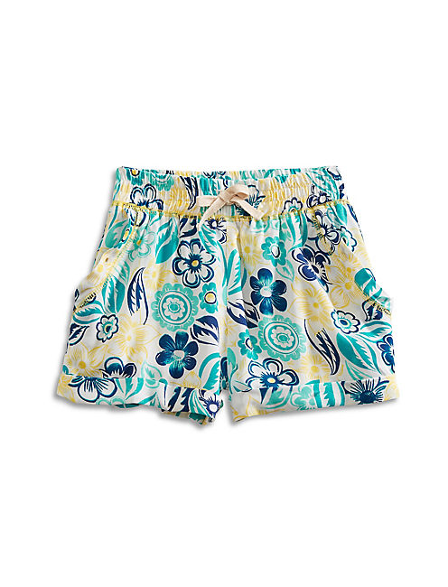 JOELLE PRINTED SHORT, OPEN WHITE/NATURAL