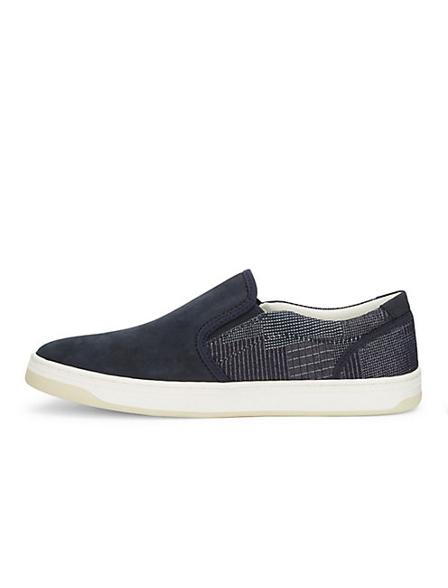 STYLES MIXED TEXTILE SNEAKER, DARK BLUE
