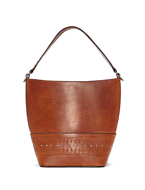 ADDIE BUCKET BAG, LIGHT BROWN