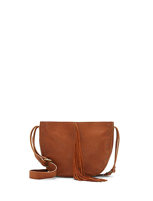ASPEN SMALL CROSSBODY, LIGHT BROWN