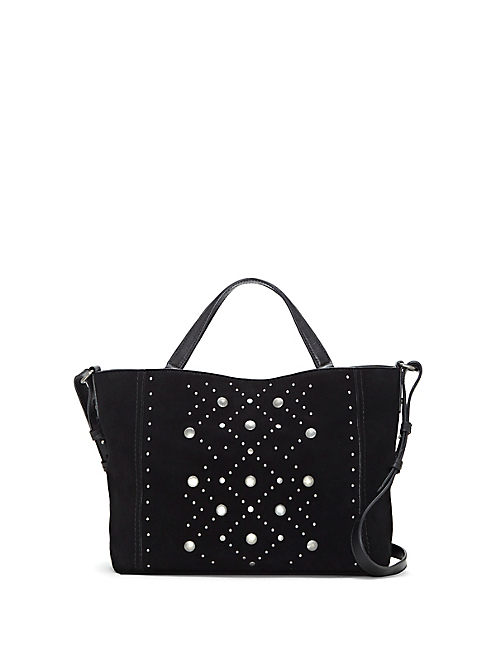 DARBY STUDDED TOTE, BLACK