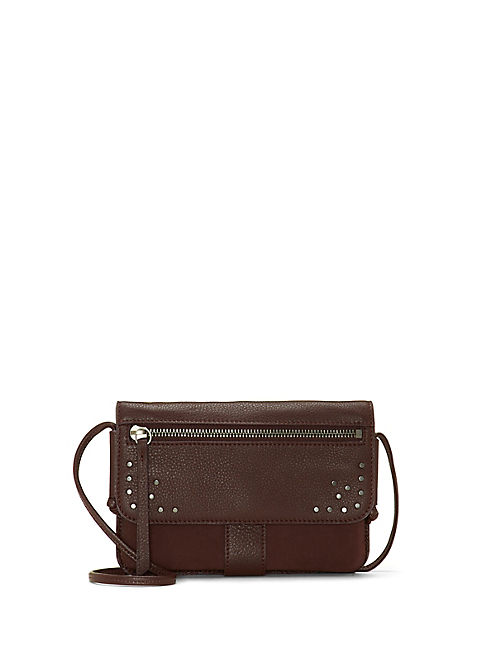 LORE CONVERTIBLE WALLET, DARK BROWN