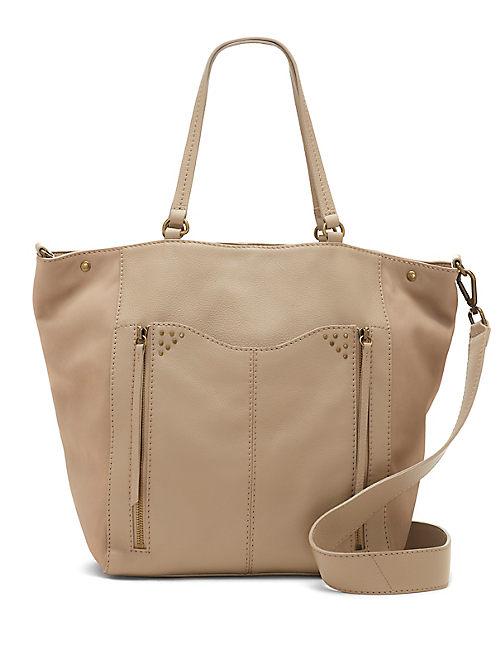 LORE TOTE, MEDIUM DARK BROWN