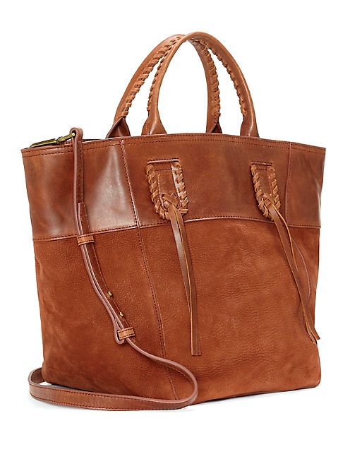 MYRA TOTE BAG, LIGHT BROWN
