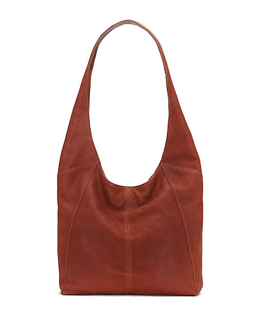 PATTI SHOULDER BAG, OPEN BROWN/RUST