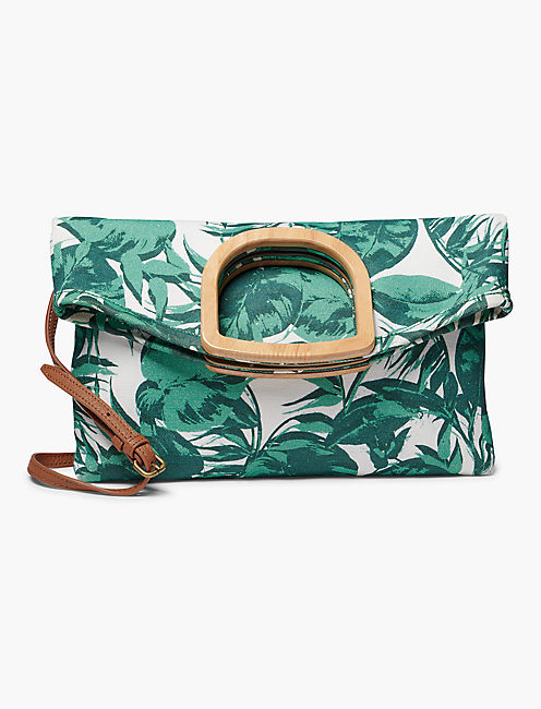 RISO WOOD HANDLE CLUTCH, LIGHT GREEN