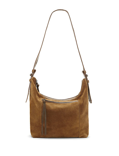 ROSE HOBO BAG, MEDIUM DARK BROWN