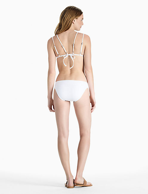 STITCH IN TIME TRIANGLE BIKINI TOP, WHITE