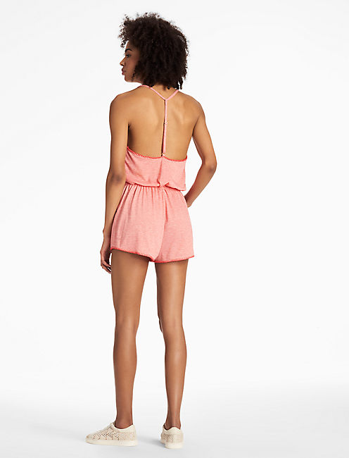 SUCKER FOR PRETTY ROMPER, CORAL