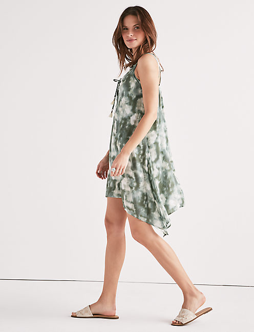 Lucky Indian Summer Lace-up Swing Dress
