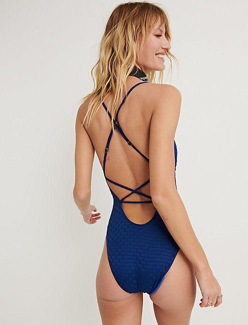 BELLE AIR CUTOUT 1PC, DARK BLUE