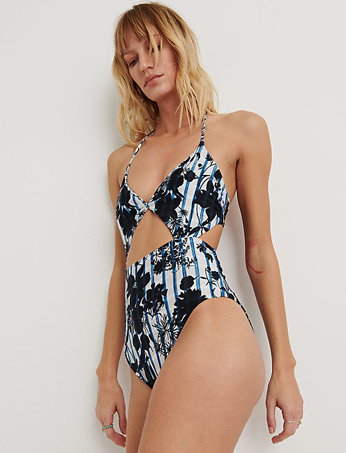 On The Grid Cutout One Piece