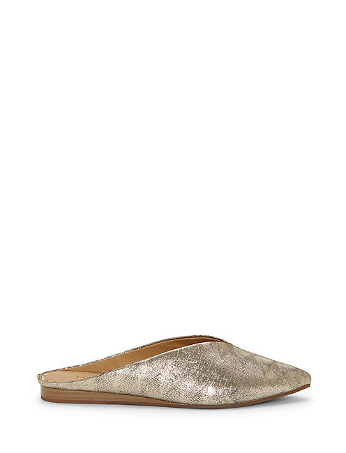 BARBORA SLIDE FLAT, PLATINUM