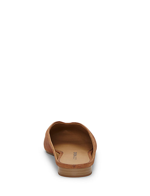 BARBORA SLIDE FLAT, LIGHT BROWN
