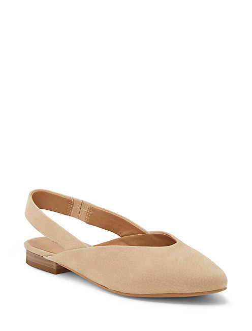 BENTEN SLING BACK FLAT, LIGHT BEIGE
