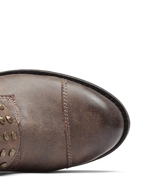 DOSEY BOOTIES, OPEN BROWN/RUST