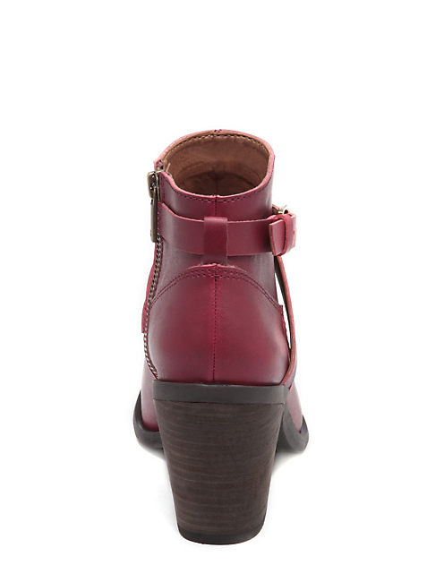 ELOY BUCKLE BOOTIES, TIBETAN RED