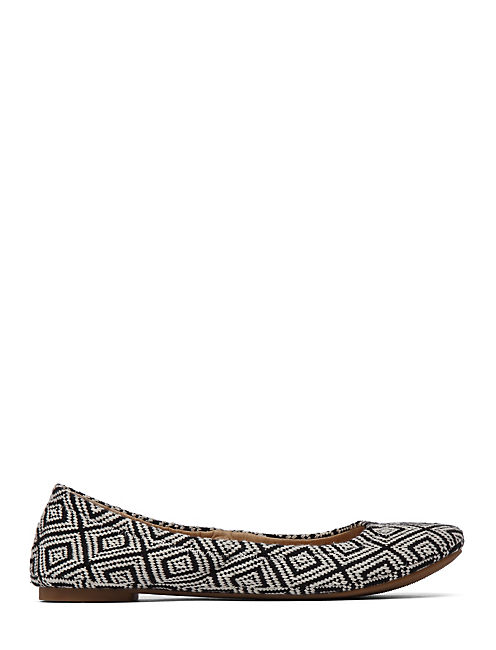 EMMIE FLATS, BLACK/NATURAL