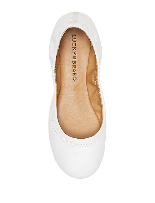 EMMIE FLATS, OPEN WHITE/NATURAL