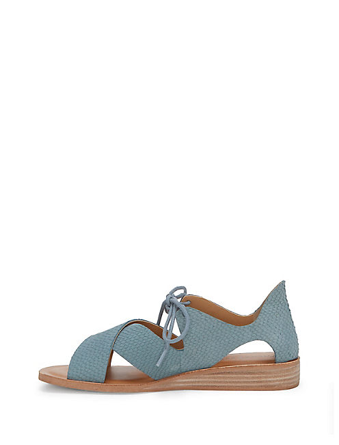 HAFSA SANDAL, OPEN BLUE/TURQUOISE