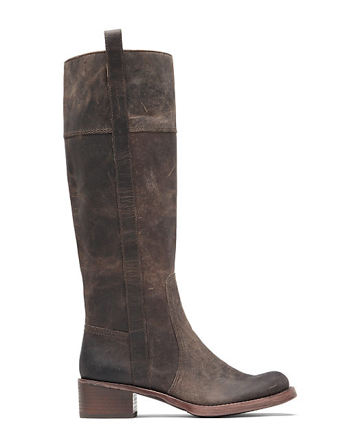 HIBISCUS RIDING BOOT, OPEN BROWN/RUST
