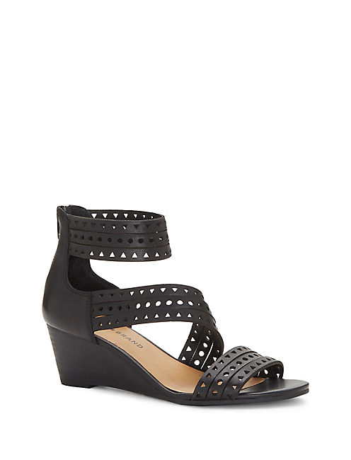 JALEELA WEDGE, BLACK