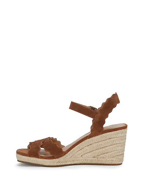 MARLEIGH WEDGE, OPEN BROWN/RUST