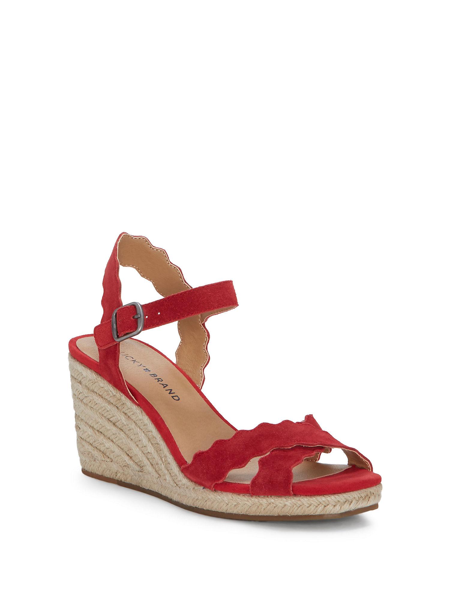 84bff3661090 Lucky Brand Marleigh Wedge Ankle Strap Sandal GUK224 - askkingoliver.com
