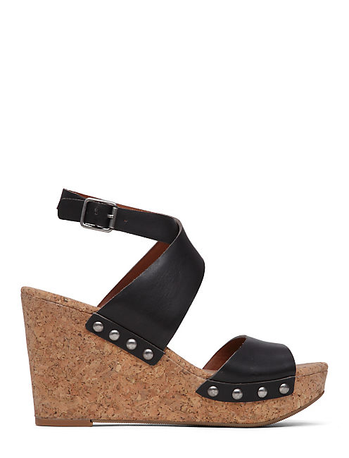 MISSEY WEDGE, BLACK