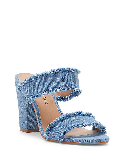 MKENNAH DENIM HEEL, OPEN BLUE/TURQUOISE