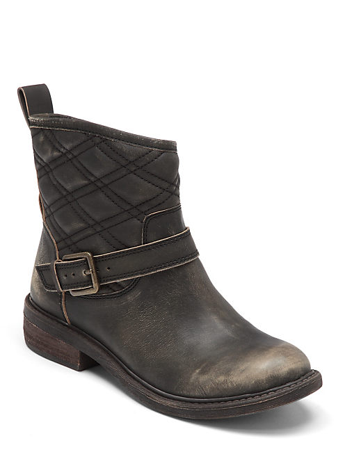 NORDIC QUILTED BOOTIES, OPEN GREEN