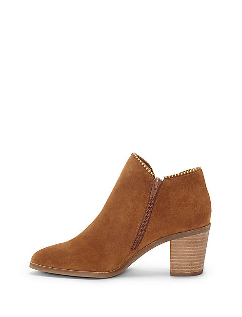 PINCAH BOOTIE, OPEN BROWN/RUST