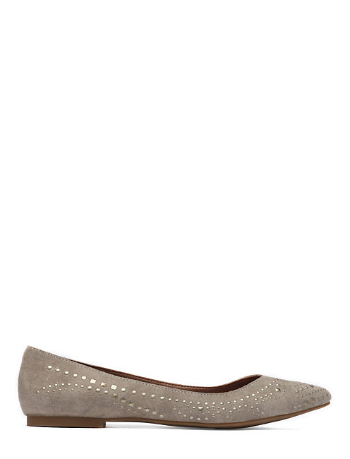REGAN METALLIC STUD FLAT, CHINCHILLA