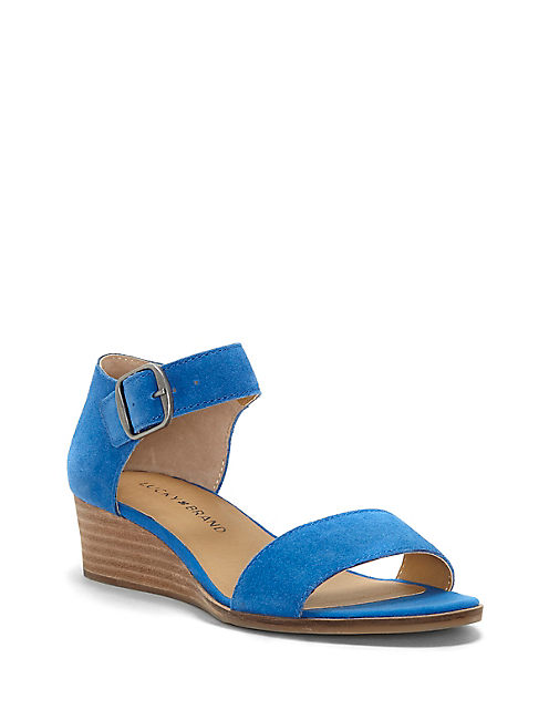 RIAMSEE WEDGE, OPEN BLUE/TURQUOISE