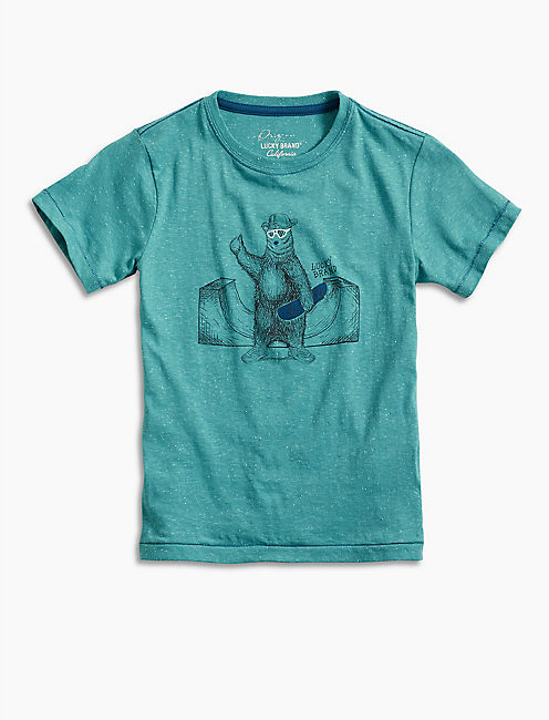 SKATER BEAR TEE, BRIGHT BLUE