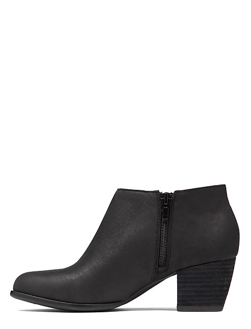 TOLACHE BOOTIE, BLACK BRUSH OFF LEATHER