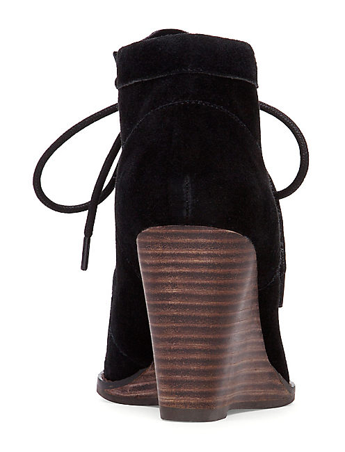YSABEL WEDGE BOOTIE, BLACK