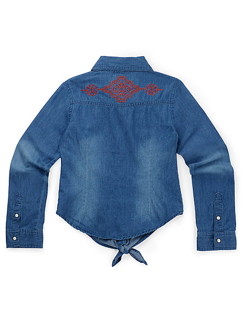 RIDGECREST DENIM SHIRT, OPEN BLUE/TURQUOISE