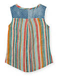 STRIPED CHAMBRAY, BRIGHT ORANGE