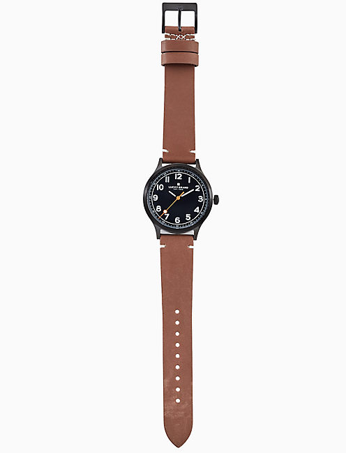 JEFFERSON BROWN LEATHER WATCH, 38MM,