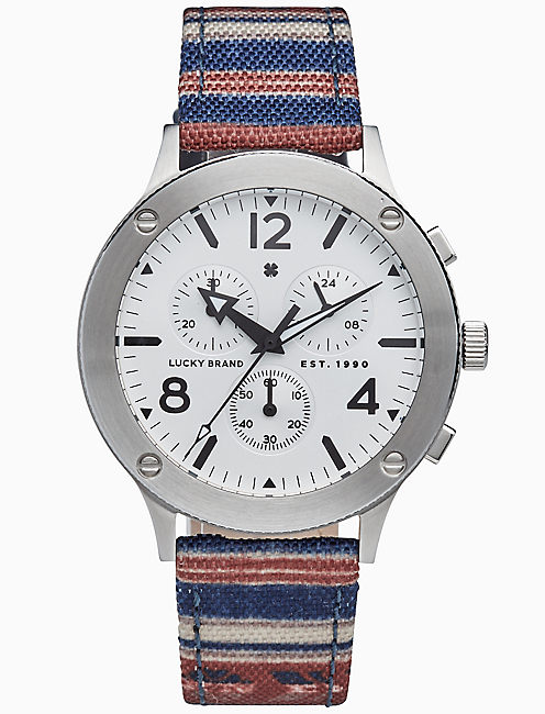 ROCKPOINT STRIPE MULTI-FUNCTION WATCH, 42MM,