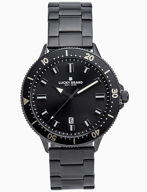 DILLON BLACK BRACELET WATCH, 42MM,