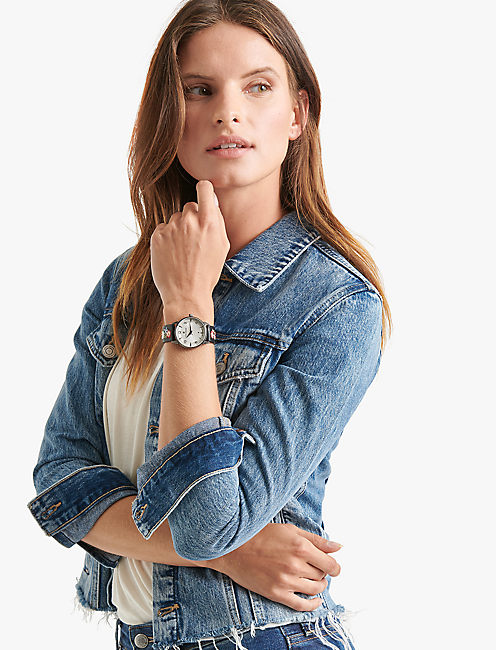 Lucky Torrey Multi-Embroidered Watch, 34mm