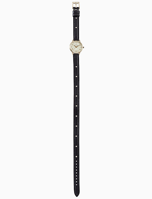 Lucky Torrey Mini Black Wrap Watch, 28mm